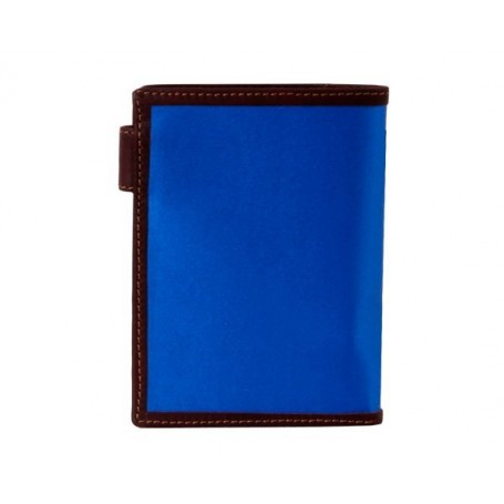 Wallet wallet purse leather blue bullfighting