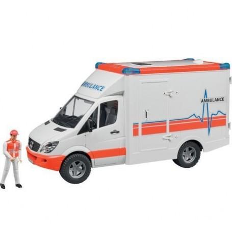 Ambulancia + conductor MB Sprinter de juguete