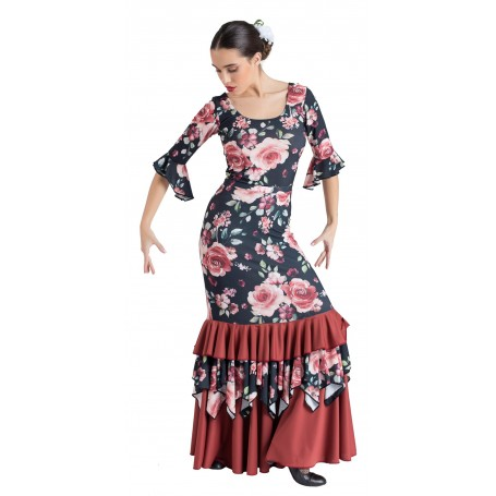 Flamenco skirt, body or ensemble adult Málaga