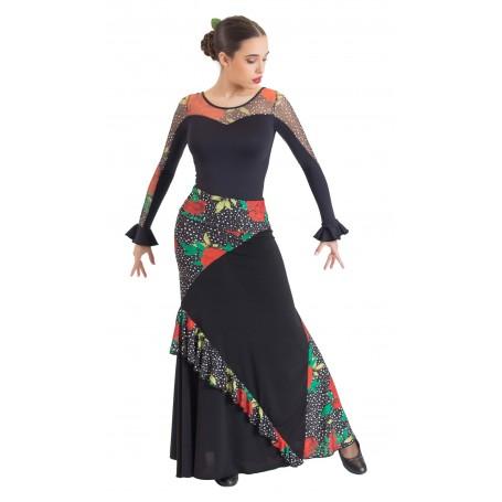 Falda, cuerpo o conjunto de flamenco adulto Guadiana
