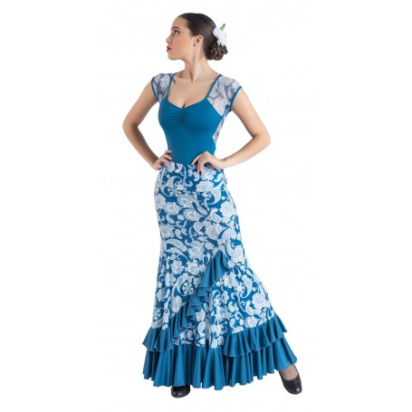 Falda, cuerpo o conjunto de flamenco adulto Lecrín