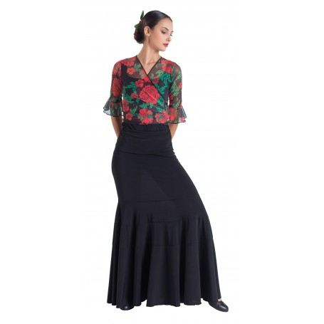 Falda, cuerpo o conjunto de flamenco adulto Evelyn
