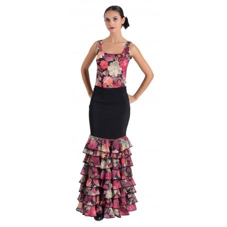 Falda, cuerpo o conjunto de flamenco adulto Bruna