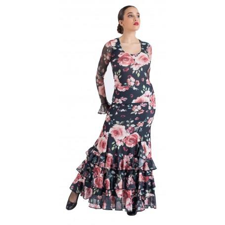 Falda, cuerpo o conjunto de flamenco adulto Kala