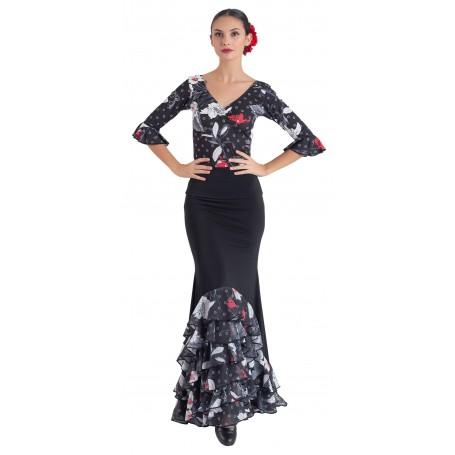 Falda, cuerpo o conjunto de flamenco adulto Zuleika