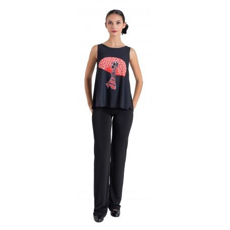 Camiseta flamenca  niña cordobesa 2460SU-F FL18